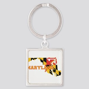 Maryland Flag Square Keychain
