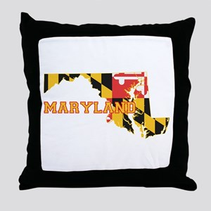 Maryland Flag Throw Pillow