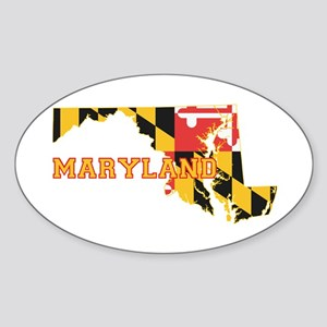 Maryland Flag Sticker (Oval)