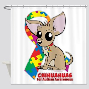 Chihuahuas for Autism Shower Curtain