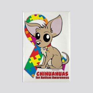 Chihuahuas for Autism Rectangle Magnet