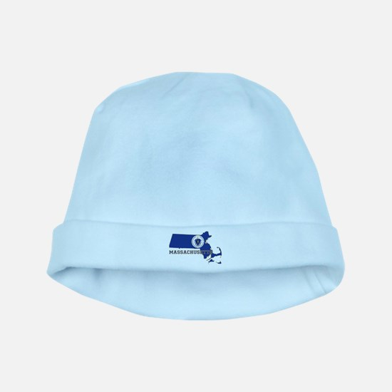 Massachusetts Flag baby hat