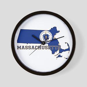 Massachusetts Flag Wall Clock
