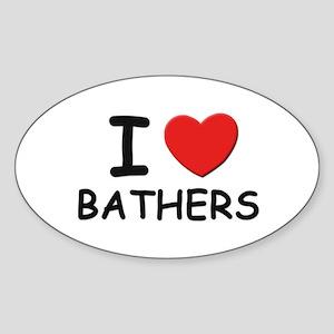 I love bathers Oval Sticker