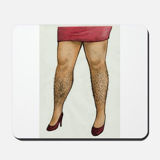 Monique Hairy Legs Mousepad