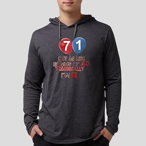 71 Mens Hooded Shirt