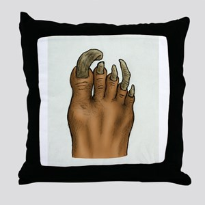 Pedicure Emergency Throw Pillow