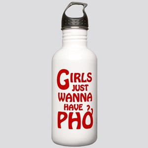 Girls Just Wanna Have Pho Sports Water Bottle