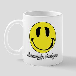 Swimmingly Thank You smiley Mug