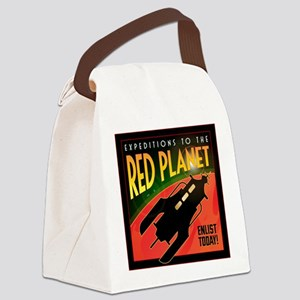 Red Planet Canvas Lunch Bag