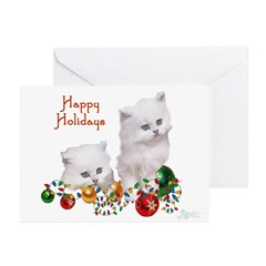 Happy Holiday Kitten Greeting Cards (Pk of 10)