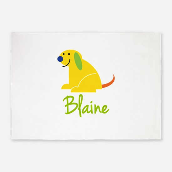 Blaine Loves Puppies 5'x7'Area Rug