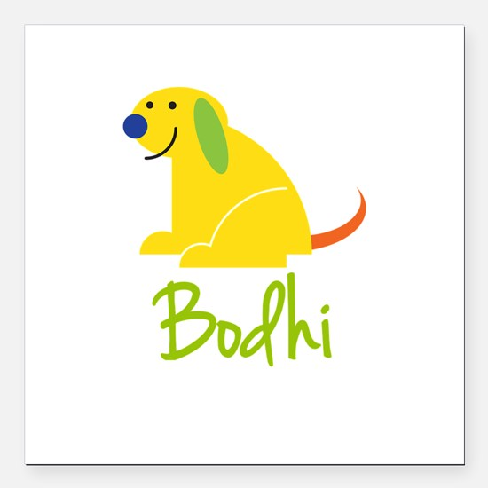 """Bodhi Loves Puppies Square Car Magnet 3"""" x 3"""""""