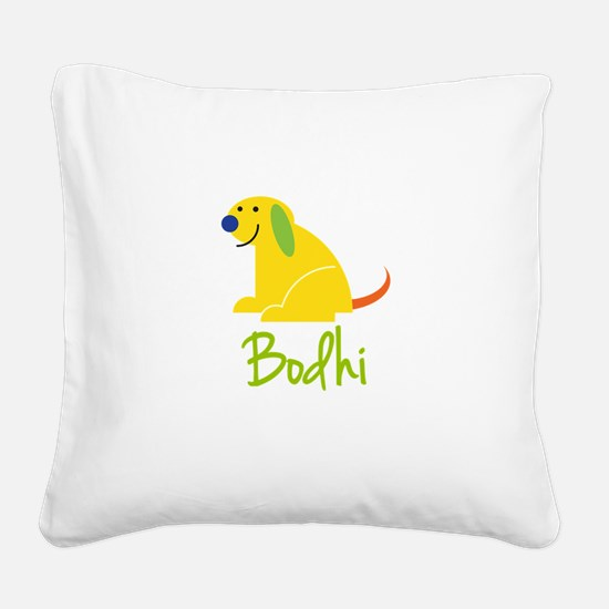 Bodhi Loves Puppies Square Canvas Pillow