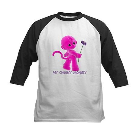 My Cheeky Monkey - Girl - Kids Baseball Jersey