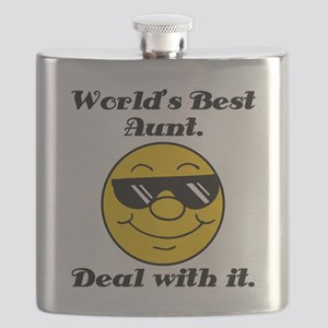 World's Best Aunt Humor Flask