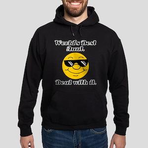 World's Best Aunt Humor Hoodie (dark)
