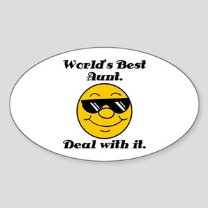 World's Best Aunt Humor Sticker (Oval)