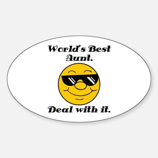World's Best Aunt Humor Sticker (Oval)