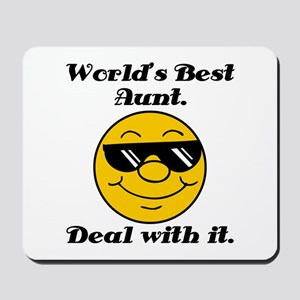 World's Best Aunt Humor Mousepad