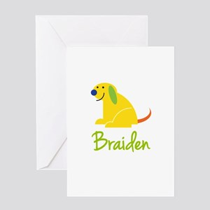 Braiden Loves Puppies Greeting Card