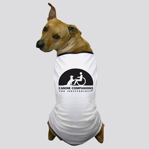 Black White Canine Companions Logo Dog T-Shirt