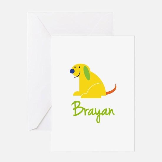 Brayan Loves Puppies Greeting Card