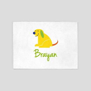 Brayan Loves Puppies 5'x7'Area Rug