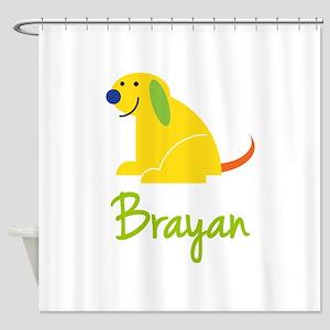 Brayan Loves Puppies Shower Curtain