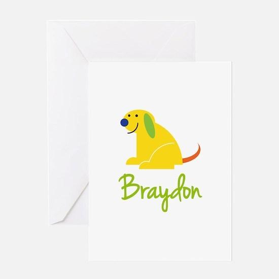 Braydon Loves Puppies Greeting Card