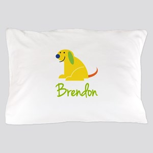 Brendon Loves Puppies Pillow Case
