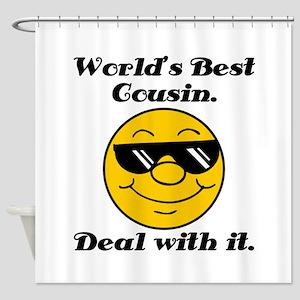 World's Best Cousin Humor Shower Curtain