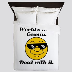 World's Best Cousin Humor Queen Duvet
