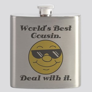 World's Best Cousin Humor Flask
