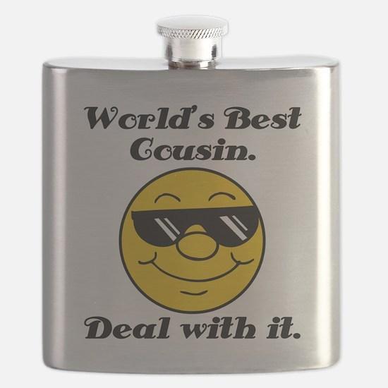 World's Best Cousin Humor Flask