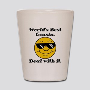 World's Best Cousin Humor Shot Glass