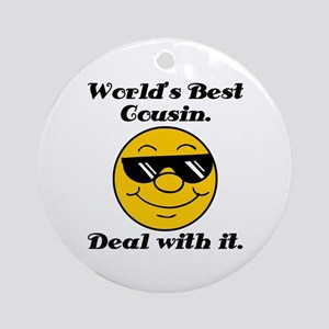 World's Best Cousin Humor Ornament (Round)