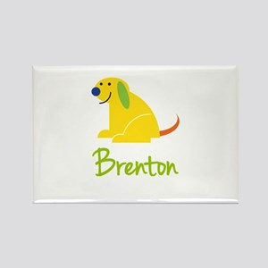 Brenton Loves Puppies Rectangle Magnet