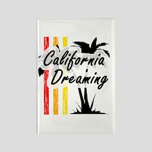 'California Dreaming' Rectangle Magnet
