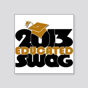 Educated Swag Gold/Black Sticker