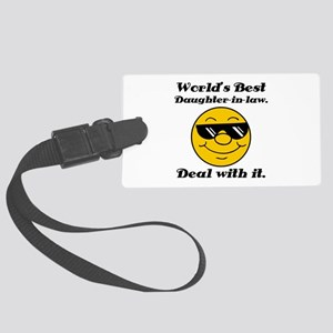World's Best Daughter-In-Law Humor Large Luggage T