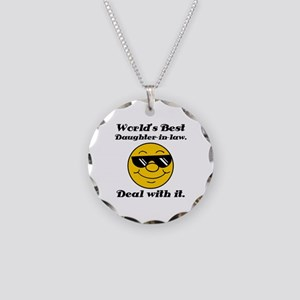 World's Best Daughter-In-Law Humor Necklace Circle