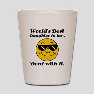 World's Best Daughter-In-Law Humor Shot Glass
