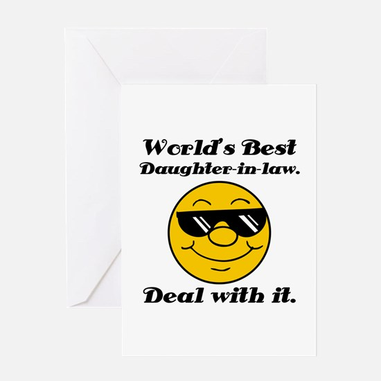 World's Best Daughter-In-Law Humor Greeting Card