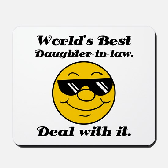 World's Best Daughter-In-Law Humor Mousepad