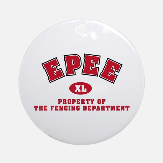 Epee Fencing Dept Ornament (Round)