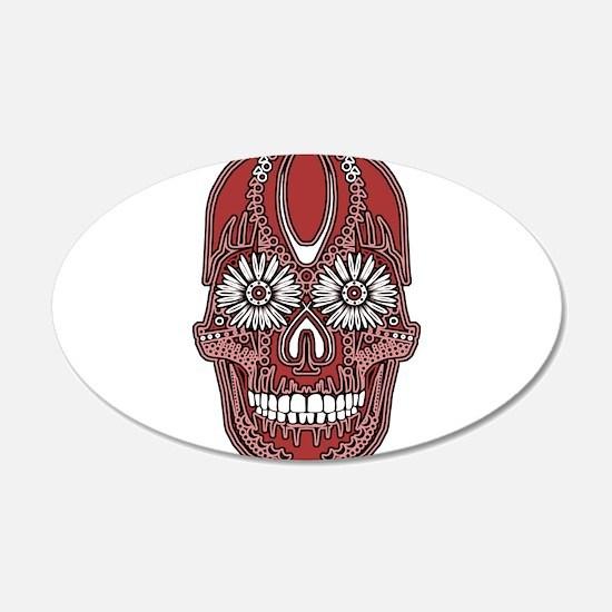 Sugar Skull Red Wall Sticker