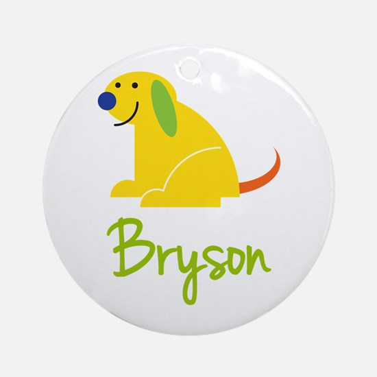Bryson Loves Puppies Ornament (Round)