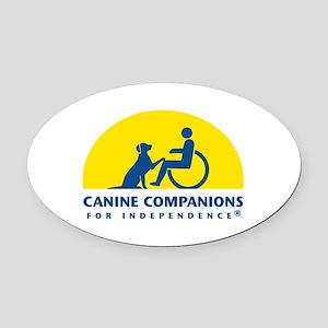 Color Canine Companions Logo Oval Car Magnet