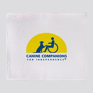 Color Canine Companions Logo Throw Blanket